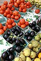 Tomatoes and Eggplant at a Farmers Market.jpg