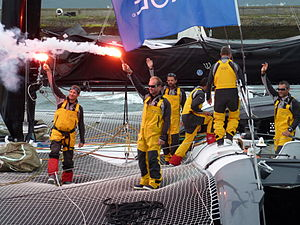 Tonnerres de Brest 2012 - Equipage du Spindrift Racing - 001.JPG