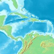 Mapa Karibského moře