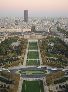Tour Montparnasse and Champ-de-Mars, view from the second floor of the Eiffel Tower.jpg