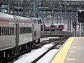 Trains at New Haven Union Station and yard, February 2013.JPG