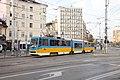 Tram in Sofia mear Macedonia place 2012 PD 010.jpg