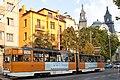 Tram in Sofia near Macedonia place 2012 PD 085.jpg