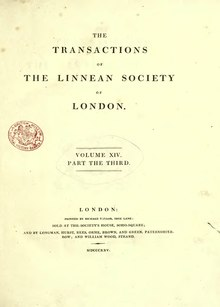 Transactions of the Linnean Society of London, Volume 14.djvu