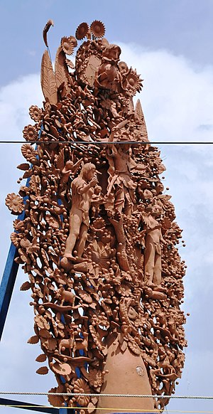 Tree of Life (craft) - Large outdoor sculpture in Metepec with Adam and Eve
