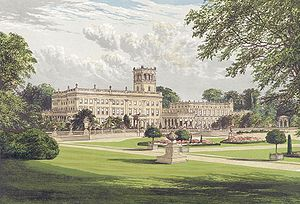 Destruction of country houses in 20th-century Britain - Image: Trentham Hall from Morriss Seats of Noblemen and Gentlemen (1880)