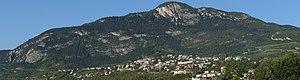 Monte Calisio - Monte Calisio with Martignano suburb.