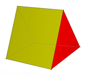 Wedge (geometry) - Image: Triangular prism wedge