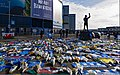 Tributes at the Cardiff City Stadium for the missing Cardiff City (former FC Nantes) footballer Emiliano Sala. (32998930728).jpg