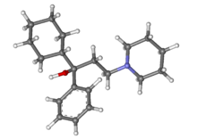 Trihexyphenidyl ball-and-stick.png