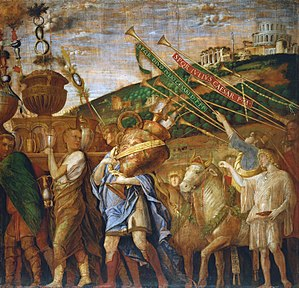 Triumphs of Caesar (Mantegna) - The Vase Bearers (fourth canvas)