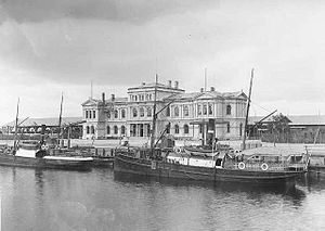 Trondheim Central Station - The station during the 1880s, just after it opened