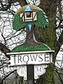 Trowse village sign (close-up) - geograph.org.uk - 1670618.jpg