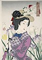 Tsukioka Yoshitoshi - Looking as if she is enjoying a stroll - an upper-class Wife of the Meiji era.jpg