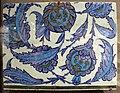 Turchia, iznik, mattonella ceramica, 1545-50 ca..JPG