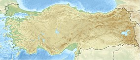 Map showing the location of Saklıkent National Park