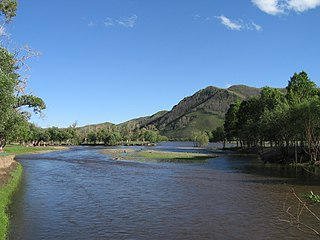 river in Mongolia