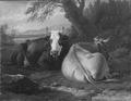 Two Cows Resting (Pieter van Bloemen) - Nationalmuseum - 17284.tif