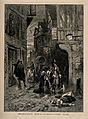 Two men discovering a dead woman in the street during the gr Wellcome V0010605.jpg