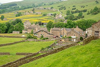 North Yorkshire - A typical village in the agricultural area of the Yorkshire Dales