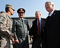 U.S. Army Spc. Mohamad Azimi translates for Afghan Brig. Gen. Khudadad Agah and U.S. Senators Roger F. Wicker and Mitch McConnell at the Central Training Facility (4278897452).jpg