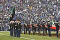 U.S. Army color guard members assigned to the 4th Stryker Brigade Combat Team, 2nd Infantry Division perform during a football pregame show Dec. 22, 2013, before the Seattle Seahawks play the Arizona Cardinals 131222-A-TM848-001.jpg