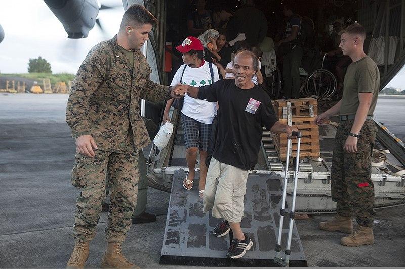 File:U.S. Marine Corps 1st Lt. Josiah Stephen, left, an ...