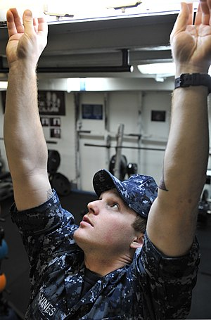 Seaman - A US Navy seaman at work aboard USS Nimitz