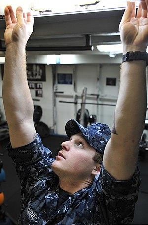 Seaman - A US Navy seaman at work aboard USS Nimitz