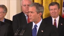 File:U.S. President George W. Bush delivers remarks and signs the USA PATRIOT Act of 2001 (October 26, 2001).webm