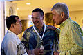 U.S. Secretary of Defense Chuck Hagel, right, speaks with Malaysia Minister of Defense Dato Seri Hishammuddin Tun Hussein during a welcome reception for ministers of defense with the Association of South East 140401-D-BW835-521.jpg