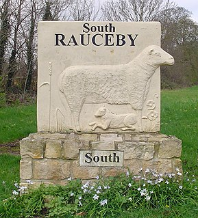 South Rauceby village in the United Kingdom