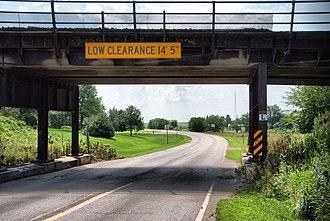 U.S. Route 30 in Iowa - Image: UPRR bridge over Lincoln Highway
