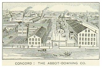 Abbot-Downing Company - Image: US NH(1891) p 549 CONCORD, THE ABBOT DOWNING COMPANY