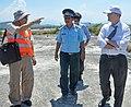 USAID Deputy Administrator Donald Steinberg and delegation visit Danang Airport. (7163083686).jpg