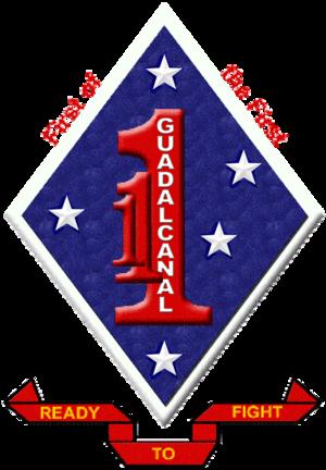 1st Battalion, 1st Marines - 1/1 Insignia
