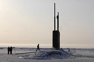 USS Alexandria (SSN-757) - Image: USS Alexandria (SSN 757) ice