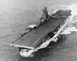 USS Intrepid (CV-11) operating in the Philippine Sea in November 1944 (NH 97468).jpg