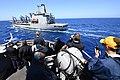 USS Porter approaches USNS Joshua Humphreys for an underway replenishment. (33113853744).jpg
