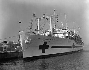 USS Repose (AH-16) - Image: USS Repose AH 16 Yokosuka 1952