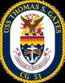 USS Thomas S. Gates CG-51 Crest.png