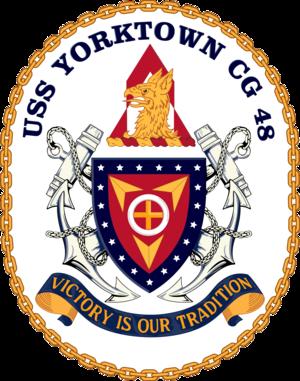 USS Yorktown (CG-48) - Image: USS Yorktown CG 48 Crest