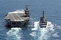 US Navy 030403-N-4768W-185 Guided missile destroyer USS John Paul Jones (DDG 53) pulls along side USS John C. Stennis (CVN 74) during an underway replenishment.jpg