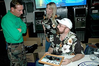 American Hot Rod - Image: US Navy 050508 N 1205S 085 Television show American Hot Rod car builder Boyd Coddington and his wife Jo signed autographs for Sailors stationed aboard the nuclear powered aircraft carrier USS Nimitz (CVN 68)