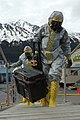 US Navy 070511-N-7949W-048 Members of the National Guard's civil support team board Military Sealift Command (MSC) fleet replenishment oilder USNS Henry J. Kaiser (T-AO 187) in biohazard suits.jpg
