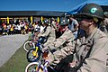 US Navy 071218-N-7367K-007 Seabees attached to Naval Mobile Construction Battalion (NMCB) 1, Guam Det. present the students of Chief Brodie Memorial Elementary School with new bicycles.jpg