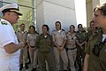 US Navy 080624-N-8273J-121 Chief of Naval Operations (CNO) Adm. Gary Roughead speaks with cadets from the Israel military officer's course while visiting the Yad Vashem Holocaust Museum in Jerusalem, Israel.jpg