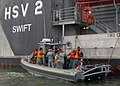 US Navy 100713-N-4971L-078 Sailors assigned to High Speed Vessel Swift (HSV 2) conduct visit, board, search and seizure exercises with Guatemala defense forces during a subject matter expert exchange in Puerto Quetzal, Guatemal.jpg