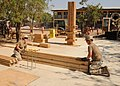 US Navy 110311-N-SN160-008 Seabees uild lumber forms for concrete columns for a school under construction.jpg