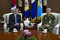 US Navy 110418-N-UH963-068 Secretary of the Navy (SECNAV) the Honorable Ray Mabus meets with Republic of Korea Chairman of the Joint Chiefs of Staf.jpg
